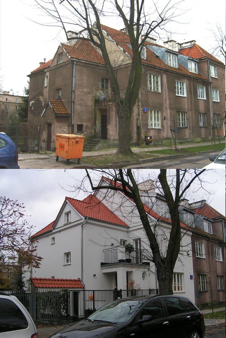 Dom przed i po przebudowie.: styl , w kategorii  zaprojektowany przez Nowak i Nowak Architekci