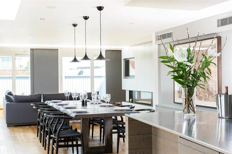 Redchurch Lofts: modern Dining room by Terry Design