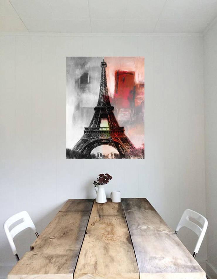Obrazy na drewnie: styl , w kategorii Sztuka zaprojektowany przez Inoutprint