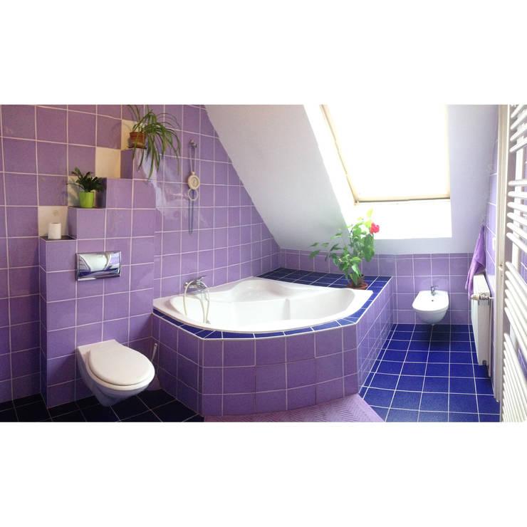 maison M&Mme V : salle de bains: Salle de bains de style  par ANA VAJNOVSZKI ARCHITECTE