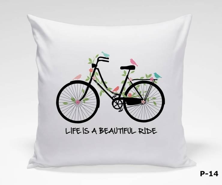 Poduszki dekoracyjne: styl , w kategorii Salon zaprojektowany przez Inoutprint