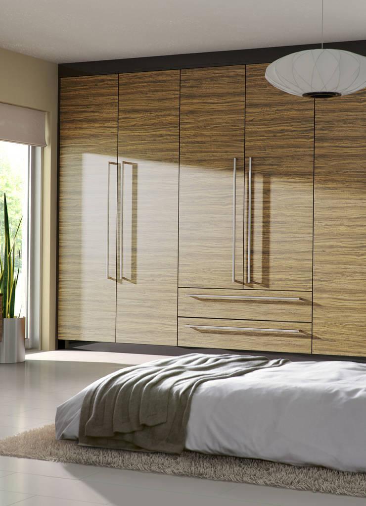 DM Design Caribbean Walnut Door Range:  Bedroom by DM Design