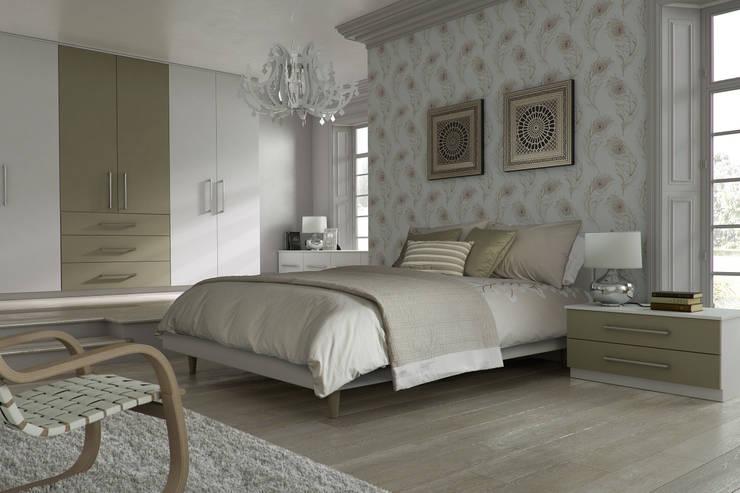 DM Design Alphine White with Olive feature door:  Bedroom by DM Design