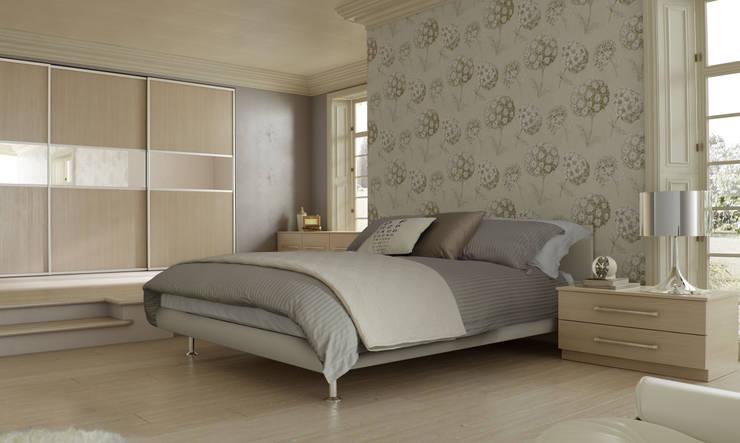 DM Design Champagne Avola Sliding Wardrobes :  Bedroom by DM Design