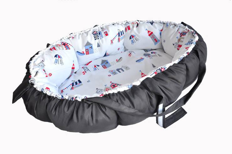 małe gniazdo - kokon dla niemowlaka: styl , w kategorii Pokój dziecięcy zaprojektowany przez Orangeria / Igolo