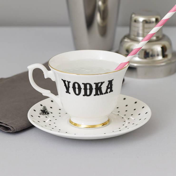Vodka Teacup & Saucer:  Dining room by Yvonne Ellen