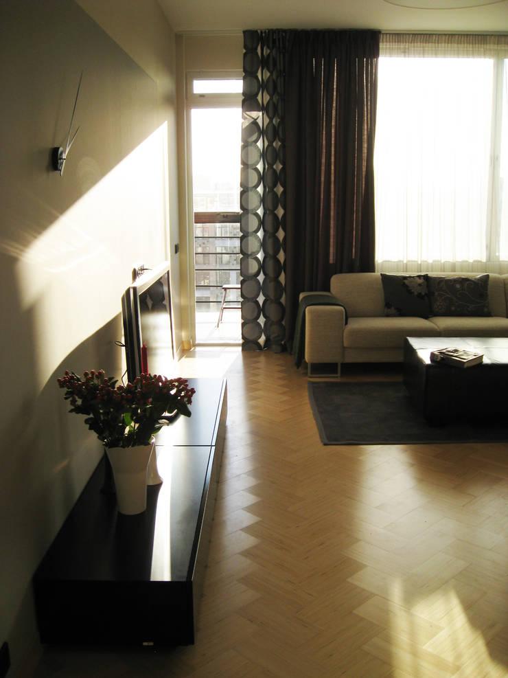 Квартира по финским лекалам: Гостиная в . Автор – Format A5 Fontanka