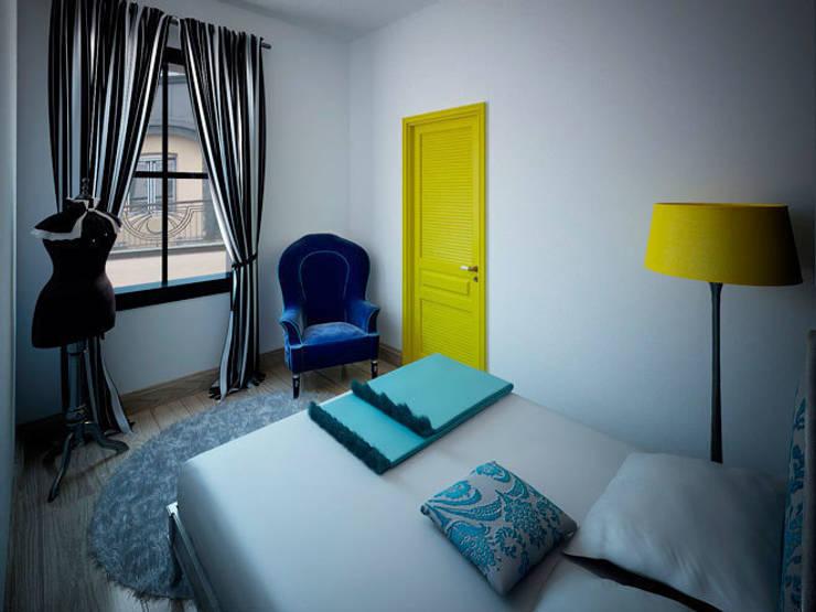 Спальня в стиле поп-арт: Спальни в . Автор – Студия дизайна интерьера Маши Марченко