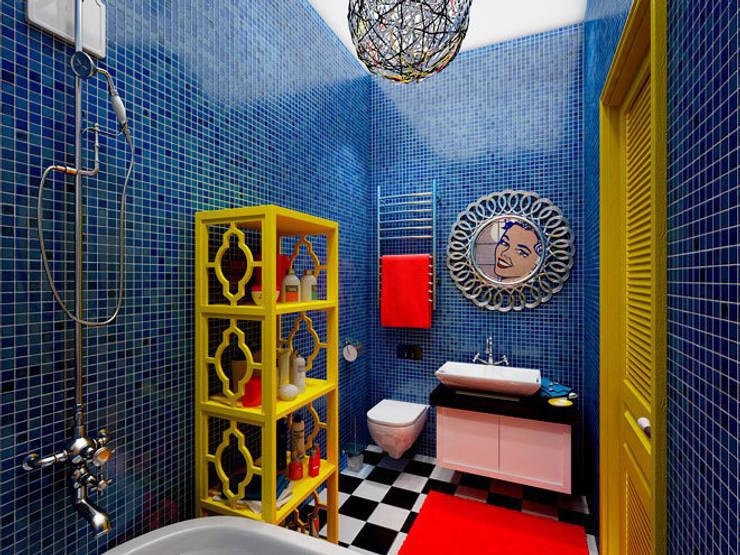 Ванная в стиле поп-арт: Ванные комнаты в . Автор – Студия дизайна интерьера Маши Марченко