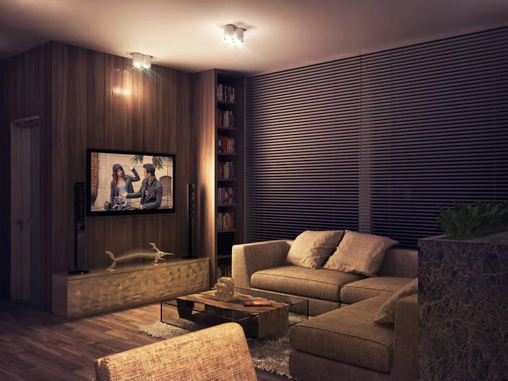 Дом Холостяка 2: Гостиная в . Автор – Sboev3_Architect
