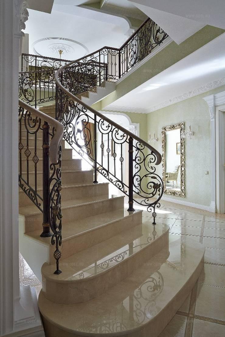 Лестница: Коридор и прихожая в . Автор – ODEL, Классический Мрамор