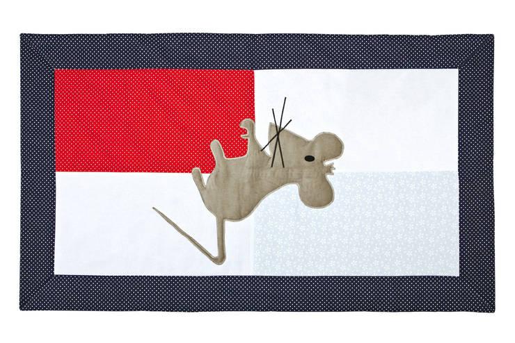 dywanik bawełniany z aplikacją myszy: styl , w kategorii Sypialnia zaprojektowany przez Orangeria / Igolo