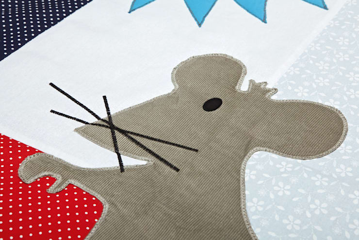 detale dywanika bawełnianego Igolo: styl , w kategorii Ściany i podłogi zaprojektowany przez Orangeria / Igolo