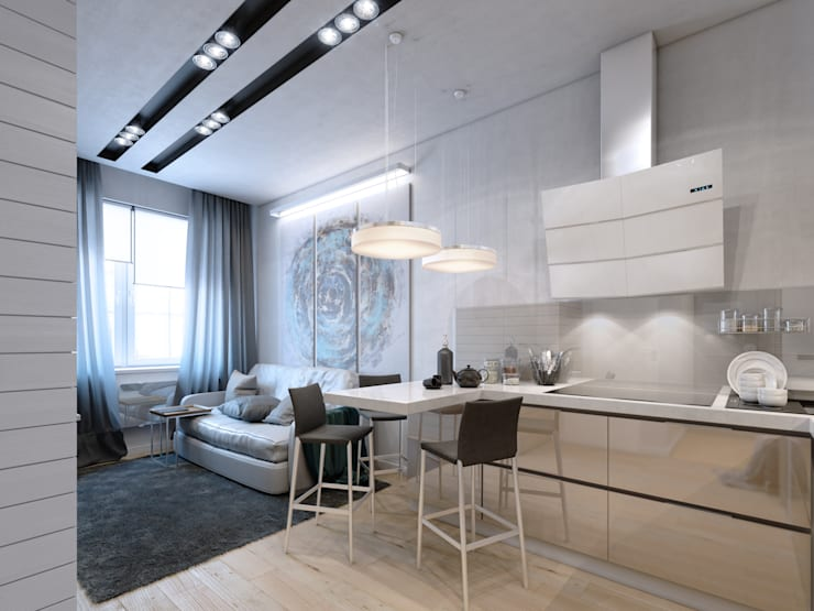 apartment of 35 sq.m.: Кухни в . Автор – Entalcev Konstantin