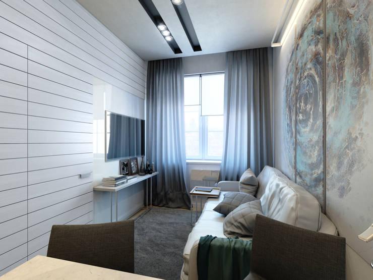 apartment of 35 sq.m.: Гостиная в . Автор – Entalcev Konstantin