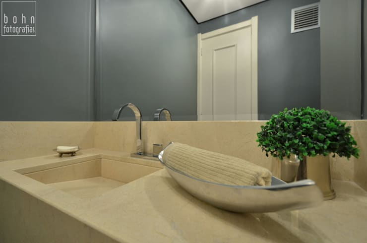Projeto lavabo contemporâneo: Banheiros  por ABHP ARQUITETURA