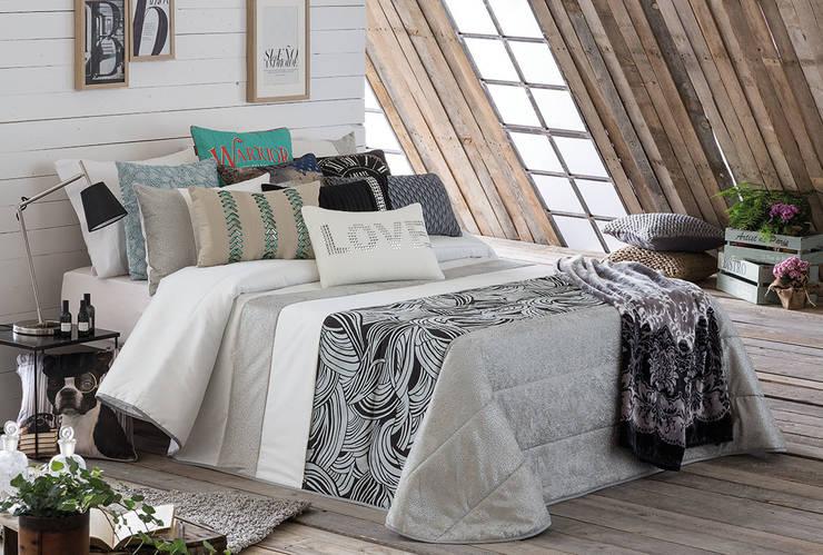 Colcha bouti Bliss: Dormitorios de estilo  de Dontextil.com