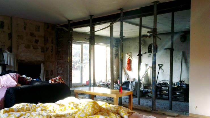 Kuchnia w garażu - Jaworzno - Krok 2: styl , w kategorii  zaprojektowany przez Bednarski - Usługi Ogólnobudowlane,