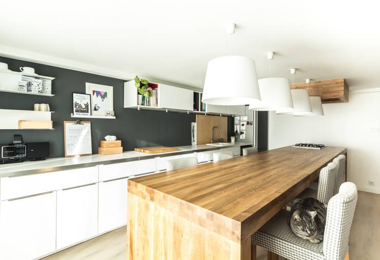 Kuchnia w garażu - Jaworzno - Stan obecny : styl , w kategorii  zaprojektowany przez Bednarski - Usługi Ogólnobudowlane,