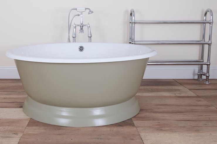 The Drum Cast Iron Bath from UKAA :  Bathroom by UK Architectural Antiques