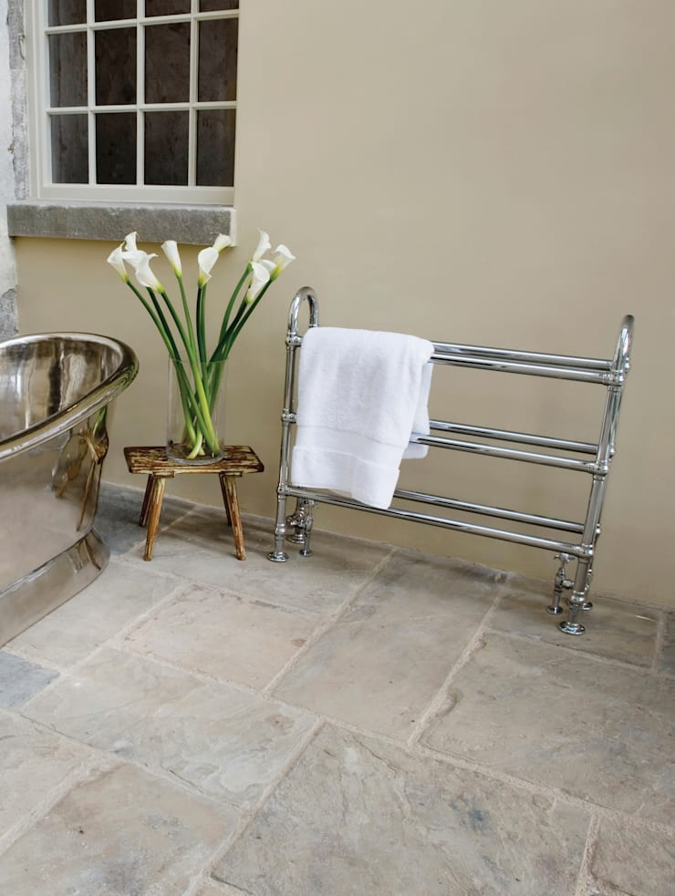 Ermine Chrome Towel Rail:  Bathroom by UK Architectural Antiques