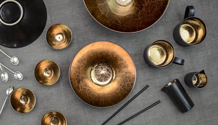Magnificent Bronze Ceramic Collection:  Kitchen by Nom Living
