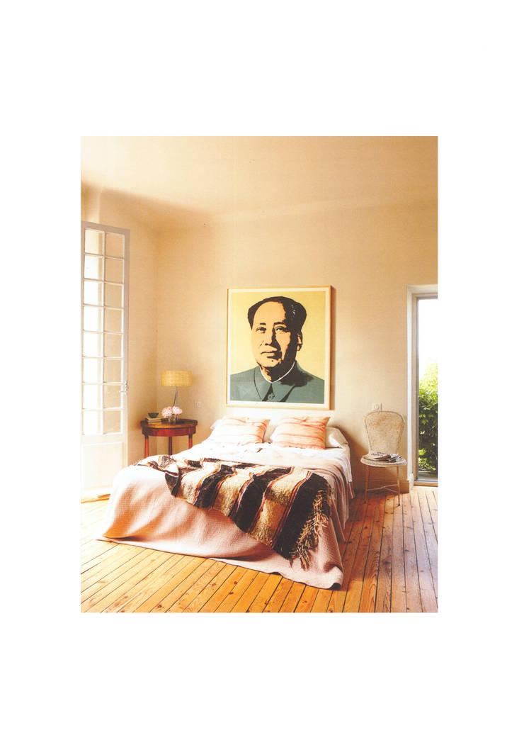 Casa de campo en el sur de Francia: Dormitorios de estilo  de La Californie