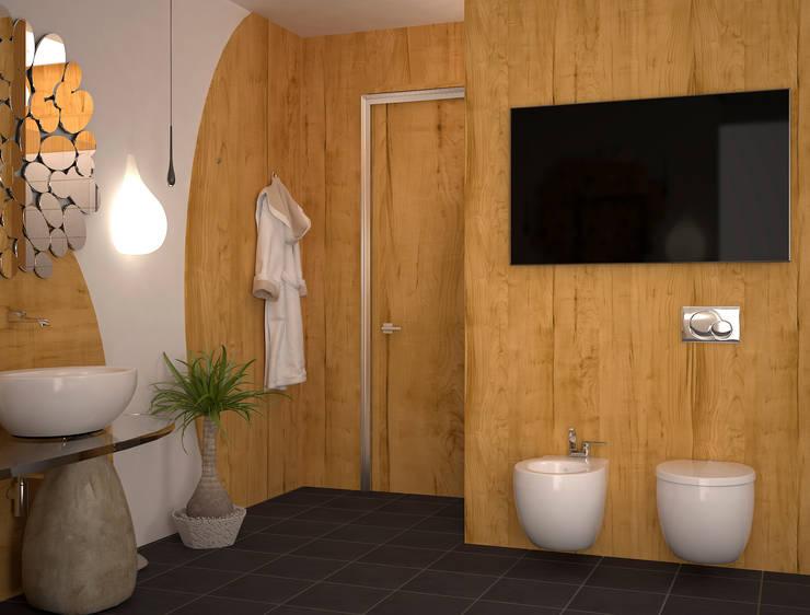 Ванная в стиле Эко: Ванные комнаты в . Автор – Инна Меньшикова,