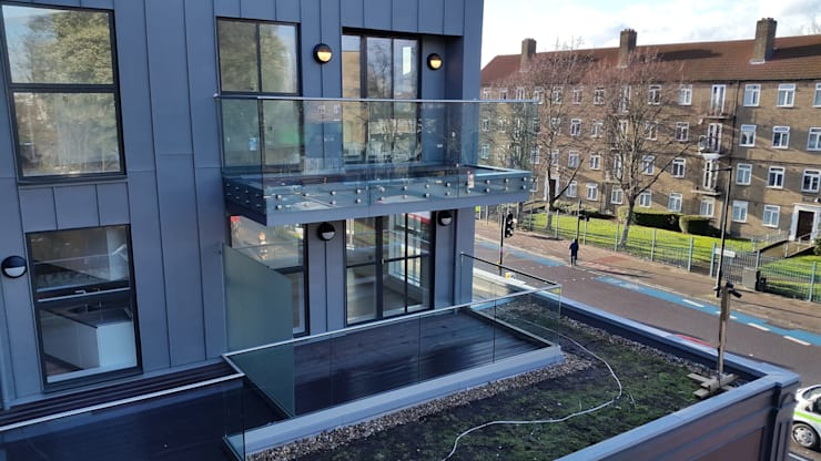 External Balustrade //  Glass Partition:  Terrace by MDM GLASS LTD