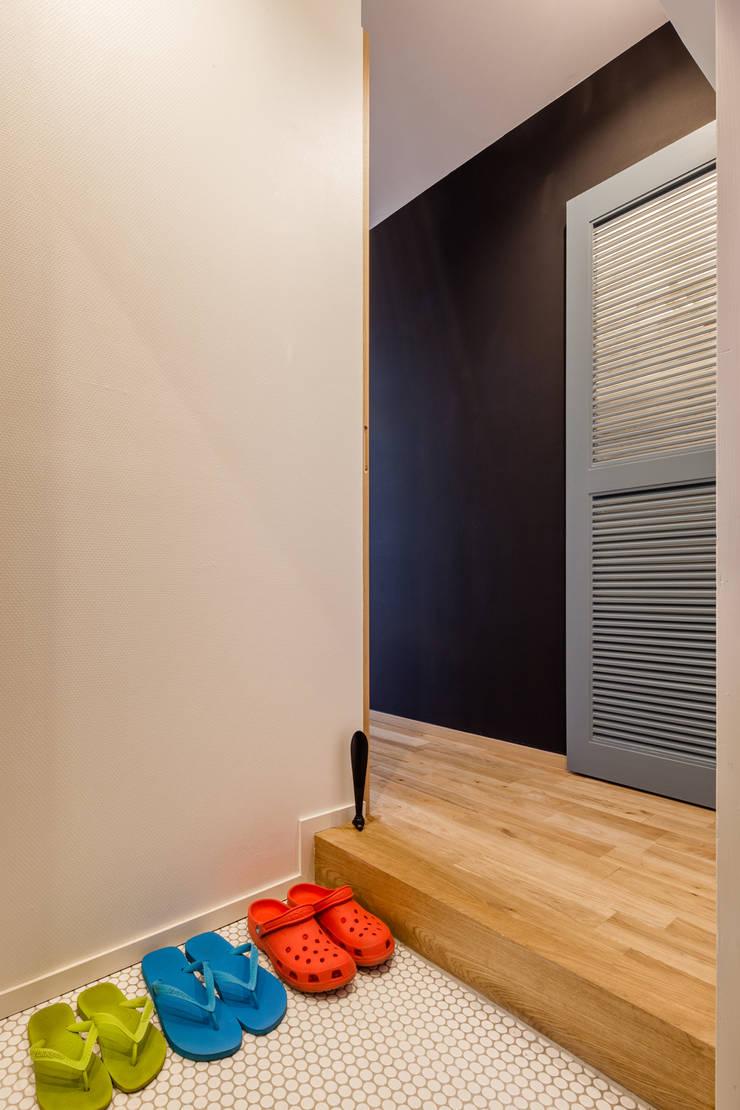 渋谷区の住宅: sorama me Inc.が手掛けた壁です。