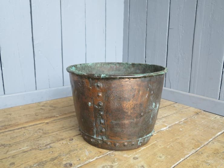 Copper Pot ideal for log storage :  Study/office by UK Architectural Antiques