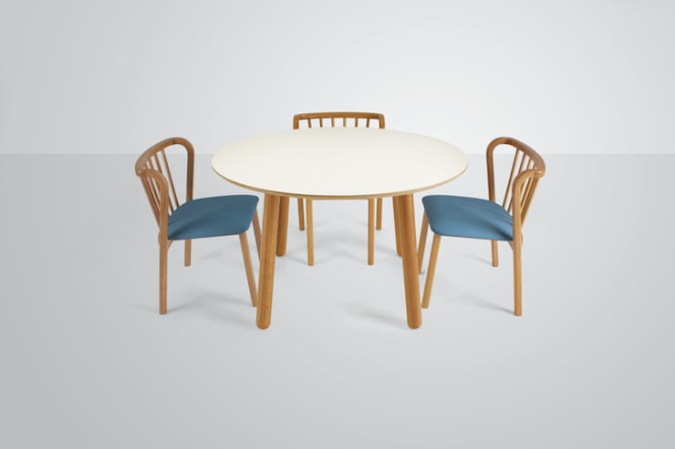 Bertie and Grace:  Dining room by And Then Design Limited