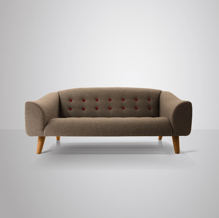 scandinavian Living room تنفيذ And Then Design Limited