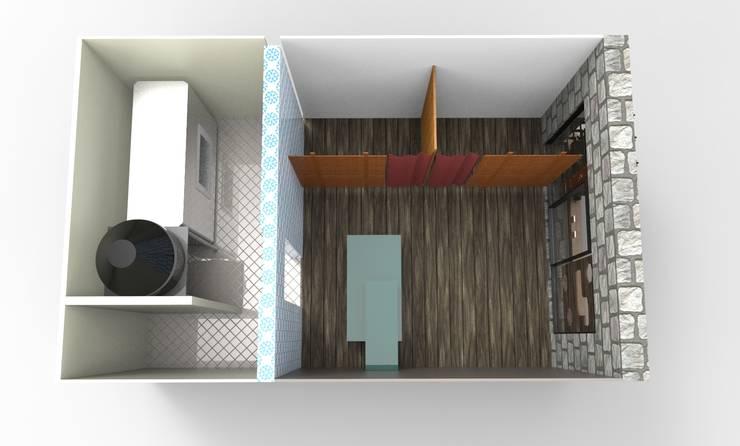vista superior: Espacios comerciales de estilo  por Armatoste studio