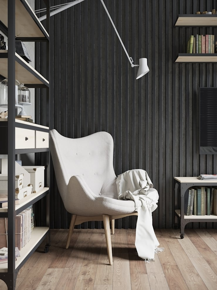 Квартира в стиле пост-модерн: Гостиная в . Автор – Denis Krasikov
