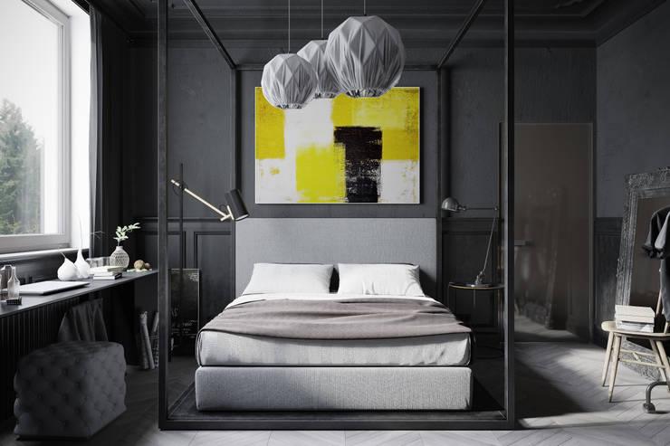 Dormitorios de estilo industrial por Denis Krasikov