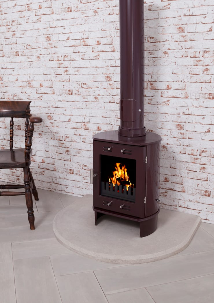 Dante Carron Enameled Stove 5kw :  Living room by UK Architectural Antiques