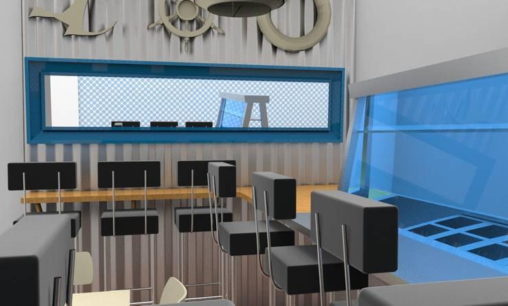 render : Restaurantes de estilo  por Armatoste studio
