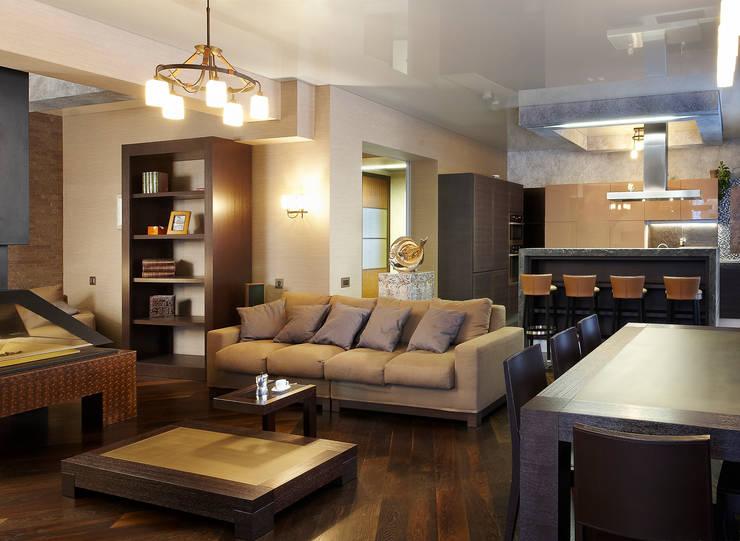 Мягкая зона гостиной: Гостиная в . Автор – Baydyuk Design Company