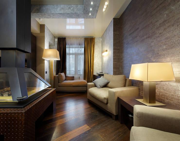 Каминная зона: Гостиная в . Автор – Baydyuk Design Company
