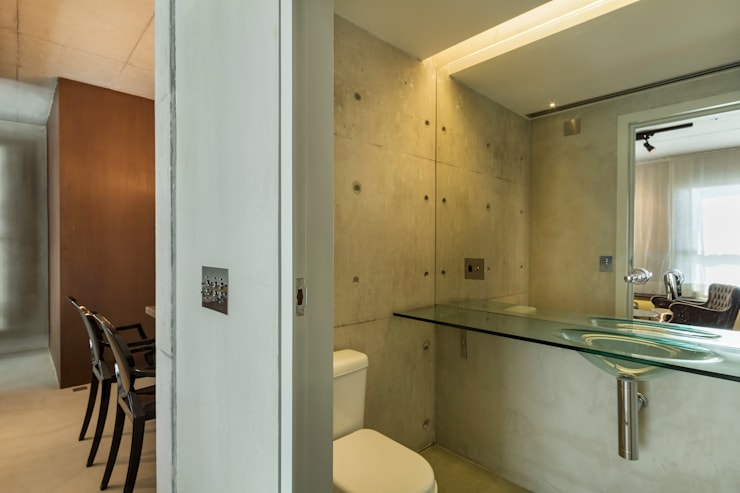 Urban Loft: Banheiros modernos por Studiodwg Arquitetura e Interiores Ltda.