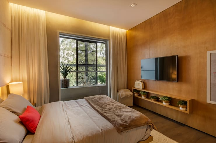 Cuartos de estilo  por Studiodwg Arquitetura e Interiores Ltda.