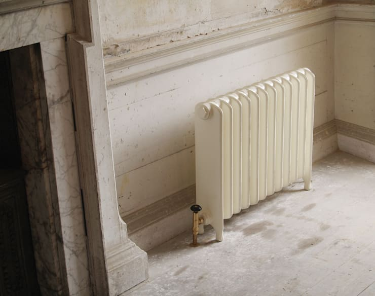The Eton Cast Iron Radiator is available from UKAA:  Bathroom by UK Architectural Antiques