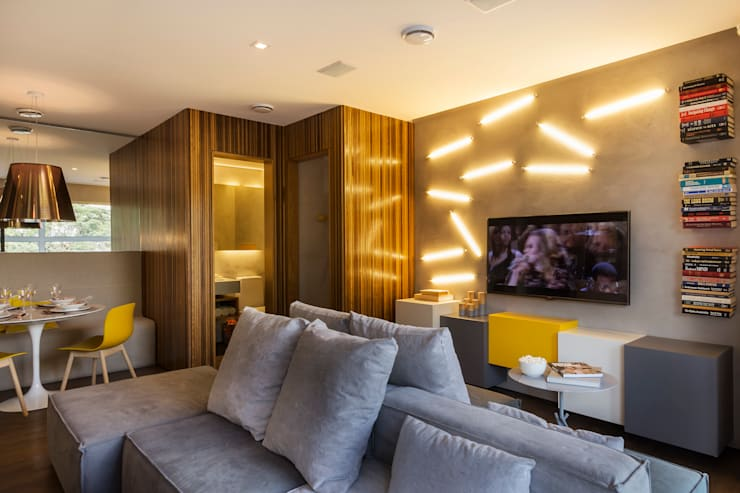 Living room by Studiodwg Arquitetura e Interiores Ltda.
