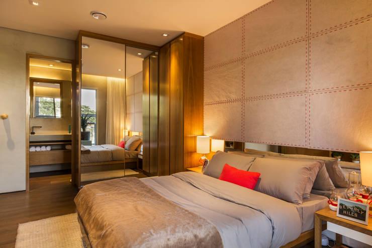 Recámaras de estilo  por Studiodwg Arquitetura e Interiores Ltda.