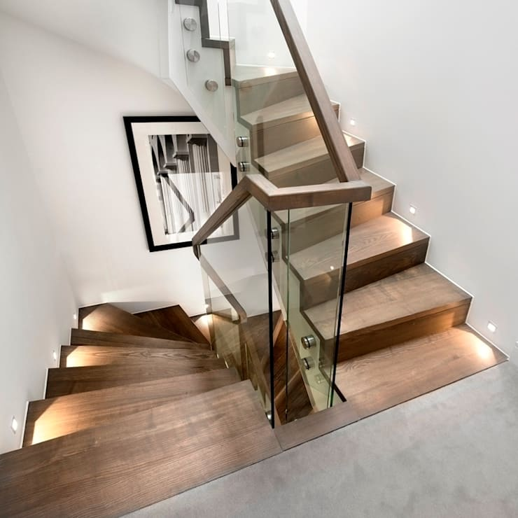 ​En-core system for large projects :  Corridor, hallway & stairs by Smet UK - Staircases