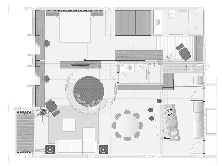 Interior | Apartamento - IV:   por ARQdonini Arquitetos Associados