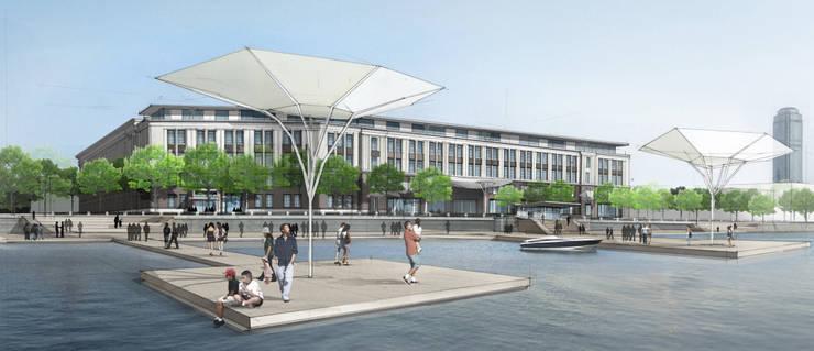 Außenperspektive Uferpromenade:   von Achtergarde + Welzel Architektur + Interior Design