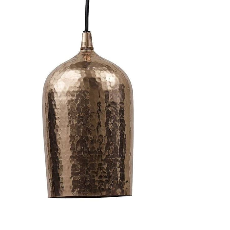 Hammered Effect Copper Ceiling Lamp:  Bedroom by POSH TOTTY DESIGNS