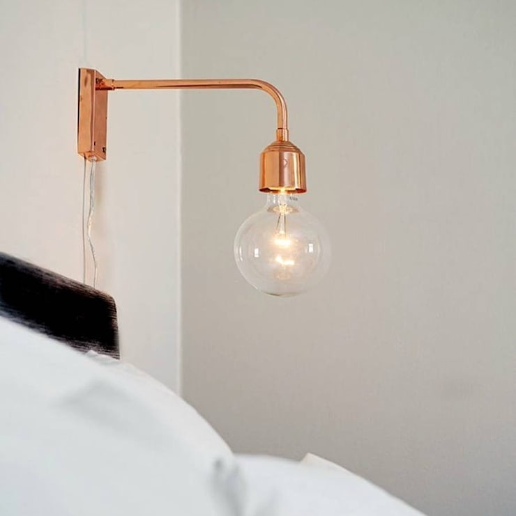 Copper Wall Lamp:  Corridor, hallway & stairs by POSH TOTTY DESIGNS